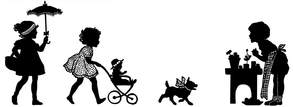 Silhouettes of Children