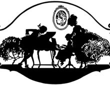 Silhouette of a Woman, Man, and Child at the Piano - Silhouette Art