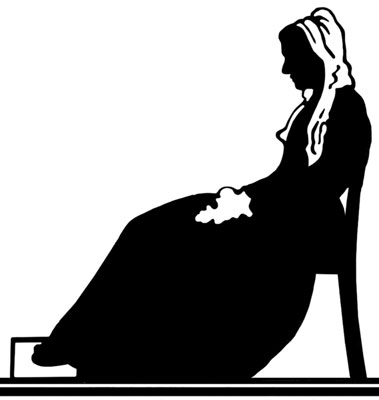 Silhouette of a Woman Sitting in a Chair  - Silhouette Art