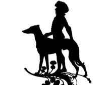 Silhouette of a Child and a Dog