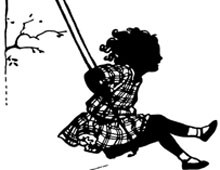 Silhouette of a Girl on a Swing