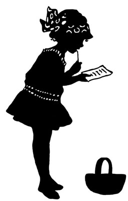 Silhouette of a Girl Standing