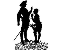 Silhouette of Man and Boy Talking