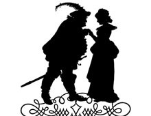 Silhouette of a Man Holding a Lady's Hand