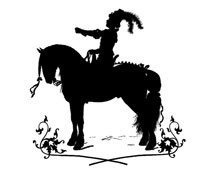 Silhouette of a Man Sitting on a Horse