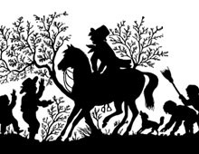 Silhouette of a Man on a Horse
