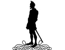 Silhouette of a Man with a Sword
