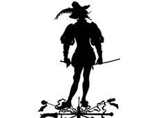 Silhouette of a Man Holding a Sword