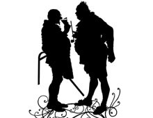 Silhouette of Men Standing Together