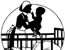 Silhouette of a Baby in a Crib