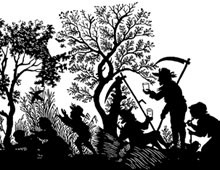 Silhouette of People Having a Picnic