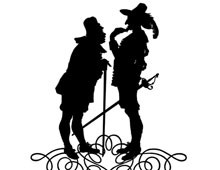 Silhouette of Men Having a Discussion