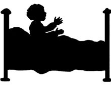 Silhouette of a Child in Bed