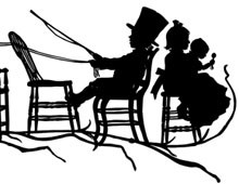 Silhouette of Children Pretending