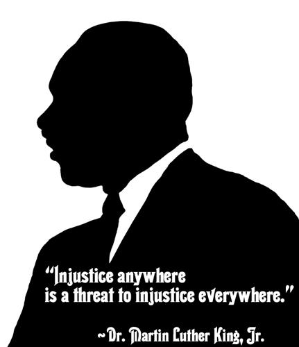 Silhouette of Martin Luther King