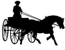Horse and Carriage Silhouette Clip Art