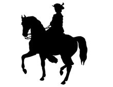 Horse and Girl Silhouette