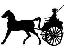 Horse and Buggy Silhouette