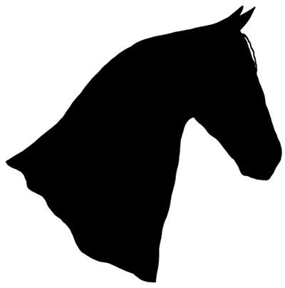 horse silhouette head