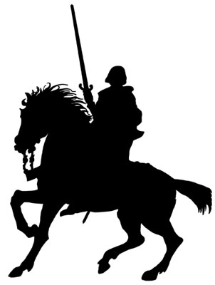 Knight on a Horse Silhouette