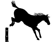 Silhouette of a Horse Jumping