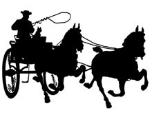 Silhouette of Horse and Carriage