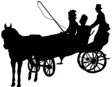 Horse and Buggy Silhouette Clip Art