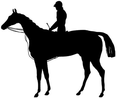 Horse and Rider Silhouette Clip Art