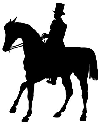 Horse and Rider Silhouette Image