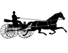 Horse and Wagon Clipart