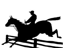 Horse Jumping Silhouette Clip Art