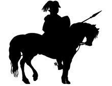 Knight on Horse Clip Art