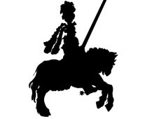 Knight on Horseback Silhouette