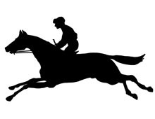 Silhouette of Race Horse