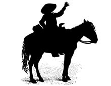 Silhouette of Western Horse
