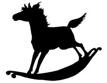Silhouette of a Rocking Horse