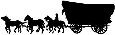 Horse and Covered Wagon Clipart
