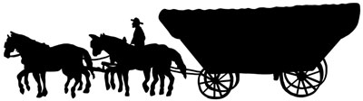 Horse and Covered Wagon Picture