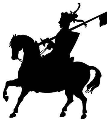 Knight on Horseback Clipart