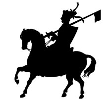 Knight on Horseback Clipart