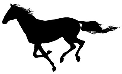 Galloping Horse Silhouette