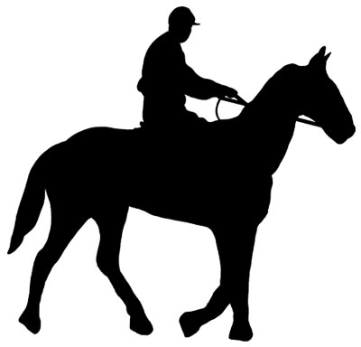 Silhouette of a Horse and Rider